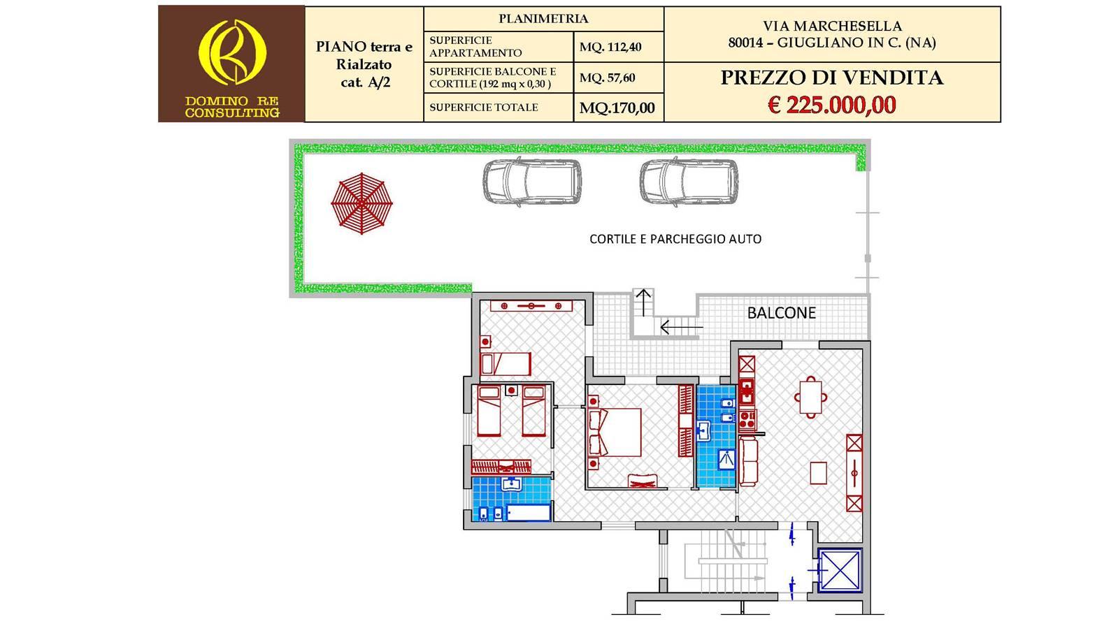 """Appartamento Via Marchesella – Giugliano in Campania – Parco """"S.Giuseppe"""""""