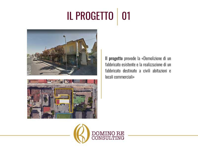 Due foto in cui ci sono gli edifici del progetto