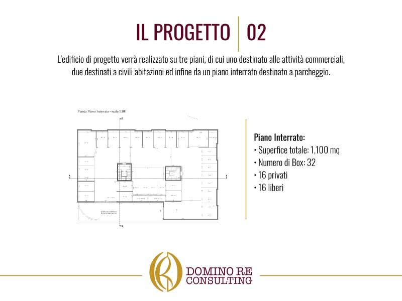 Planimetria del progetto piano interrato