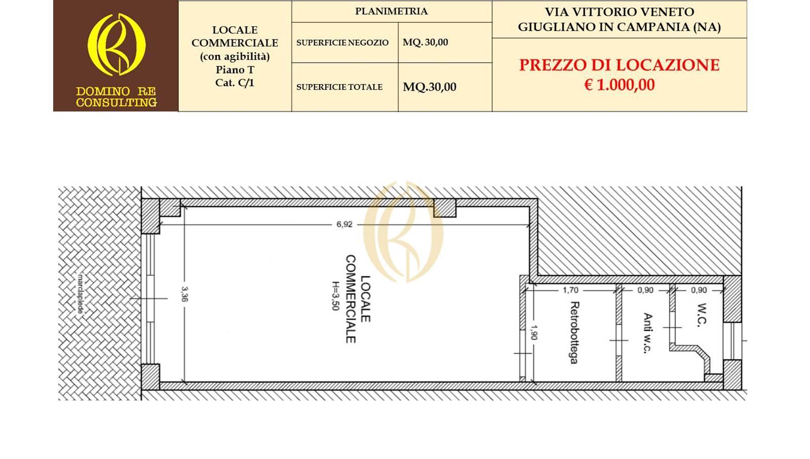 Fittasi Locale commerciale (ristorazione),  Giugliano in Campania (NA).